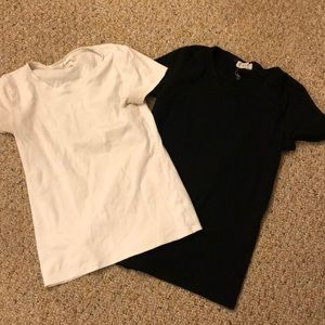 Black and white tee